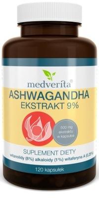 MEDVERITA ASHWAGANDHA 8% WITANOLIDÓW STRES - 120k