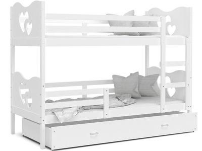 Poschodové postele 190x80 MAX white white + matrac