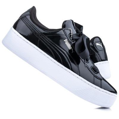 Czarne damskie buty platformy wysokie szpilki 39