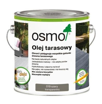 OSMO 019 Olej na terasy na rôznych úrovniach,drevo 2.5 Litrov Šedá