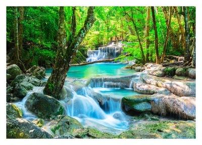 Tapety 3D Vodopád vodného lesa 350x245 RC