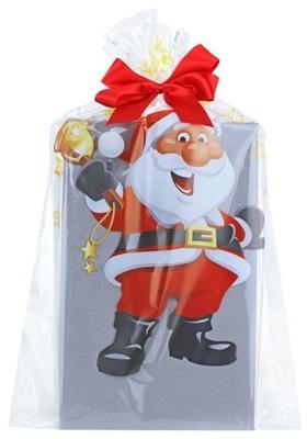 мешок сумочка новогодняя из фольги целлофан 30x50 MD