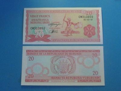 Бурунди Банкнота 20 Francs 1997 UNC P-27d