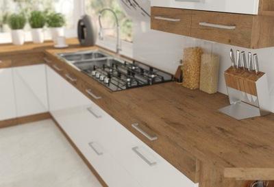 Мебель Кухонные Ivo 180 стоящие . Белый блеск закрытие