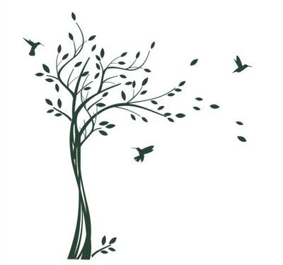 наклейки instagram пленка 105x170 см травы Дерево aim