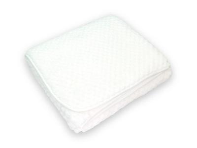 Kocyk soft delikatny do chrztu chrzest biały 80x90