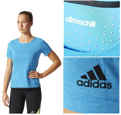 bb3b2619b1d31b Koszulka damska Adidas Climachill na siłownię M - 6974736381 ...