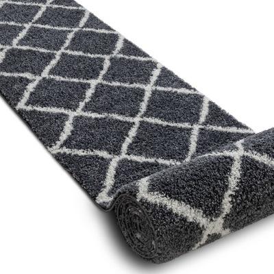 CHODNÍKU Marocký kilim 80 cm KRÍŽ sivý *Q2643