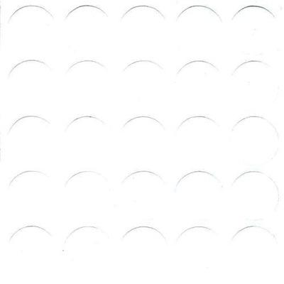 Zaślepki meblowe samoprzylepne fi20mm biały gładki