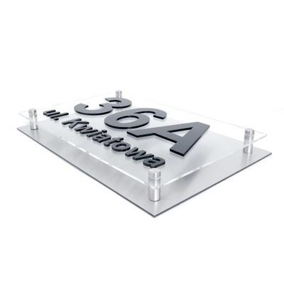 Табличка адресная Табличка дом НОМЕР 3D Алюминий