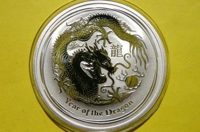 1 /2 $ АВСТРАЛИЯ 2012-??? дракон -LUNAR-Ag 999 darklis