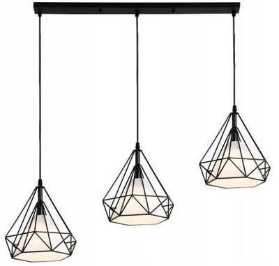 stropné svietidlo PRÍVESOK lampa TRIPLE E27 LOFT Bello
