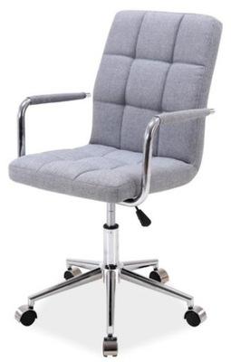 Tapicerowane krzesło obrotowe Q M2 | Krzesło, Krzesła, Szary