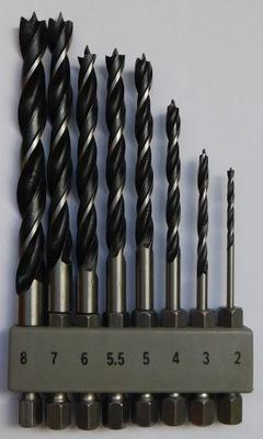 Сверла Bosch бит fi 2 -8 мм HSS Дерево UNEO комплект