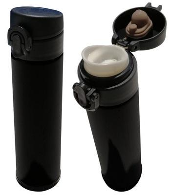 Кружка термопечать Термос бутылка фляга 350ml Черный