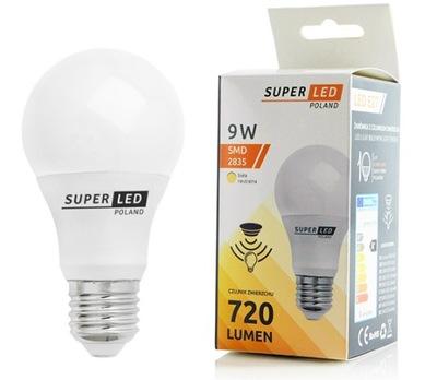 Лампа LED E27 датчик сумерек 9W SuperLED