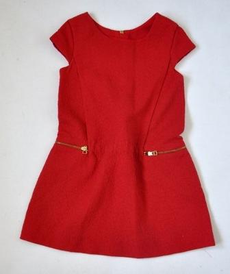 sukienka zara czerwona dziewczynka