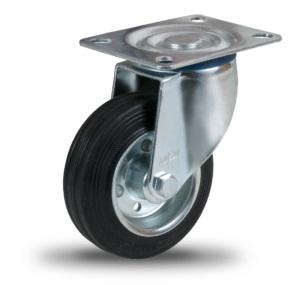 KOŁO OBROTOWE 125mm , KÓŁKO WÓZKA metal guma