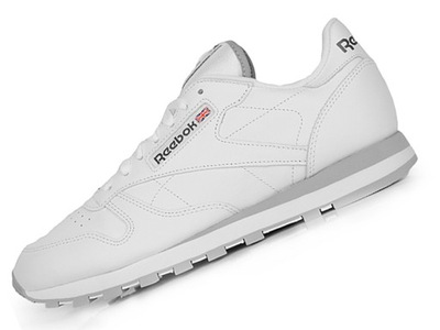 0875b288 REEBOK CLASSIC LEATHER WHITE SNEAKERS 40,5 26cm - 7682578145 ...