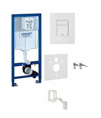Grohe Rapid SL 5in1 rám pre flush-montáž WC BIELA