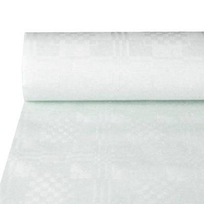 Скатерть Скатерти Одноразовые Бумажные Белый 50 м х1,2м