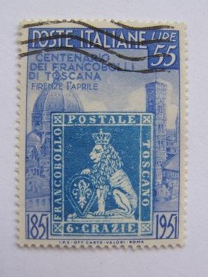 Włochy - 100 l. zn. Toskanii - luzak - Mi.827 kas.