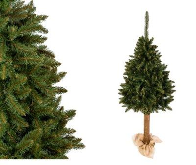Vianočné stromčeky umelé Jedľa prírodné JEDĽA NA TRUPE 180 CM