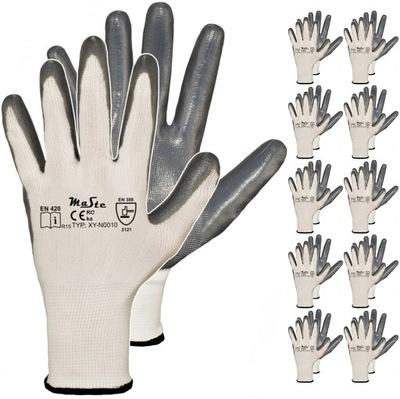 10 пар перчатки перчатки рабочие разм. 9 нитрил