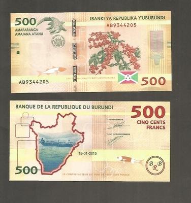 БАНКНОТА Бурунди -- 500 Francs -- 2015 ??? UNC !