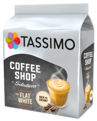 капсулы TASSIMO FLAT WHITE 8 штук Rich&Cream