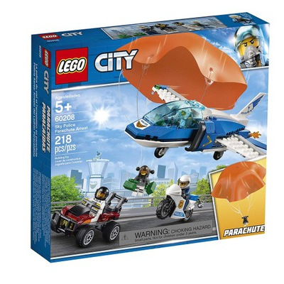 LEGO CITY 60208 ZATKNUTIE PARAŠUTISTU