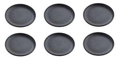 комплект 6 x Тарелка посуды большой черные КРАПИНКУ