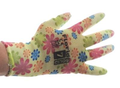 перчатки перчатки рабочие ЦВЕТЫ 12 пар разм. 7