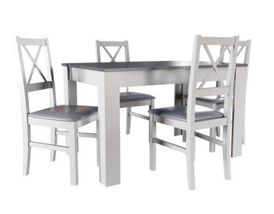 стол 80x120x165 И 4 стулья , комплект скандинавский