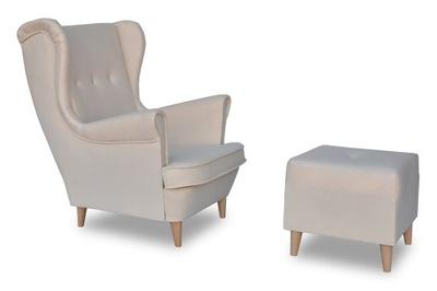 Кресло  АРИ с подставкой для ног пуф 120 цветов ВЫС