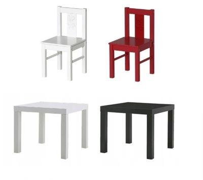 IKEA konferenčný stôl + 2 stoličky / vysoká stolička KRITTER NEDOSTATOK