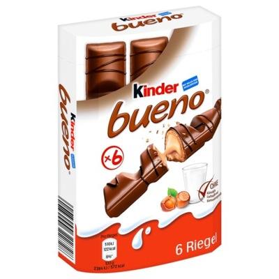 Kinder Bueno шоколадный батончик 6 штук, из Германии