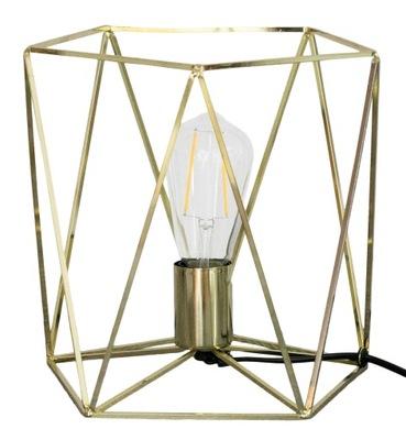 LAMPY, nočný stolík KOVOVÉ ZLATO Alt. 25 cm