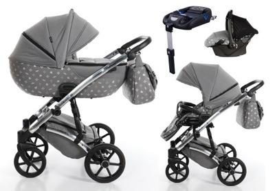 Baby kočík TAKO LARET IMPERIAL sivá 4w1 03