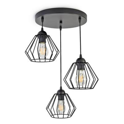 LAMPY PRÍVESOK lampa STROPNÝ LUSTER DIAMOND LED 724-E3