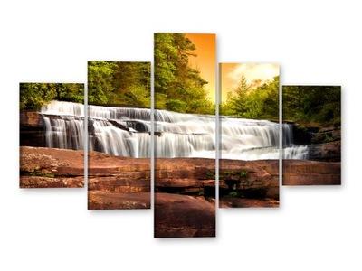 ВОДОПАД Картины на холсте 125x85 Изображения частичное