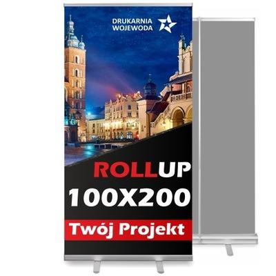ROLL-UP 100x200 cm, MOCNA KASETA + PIĘKNY DRUK