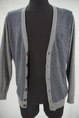 US Polo klasyczny rozpinany sweter męski M P