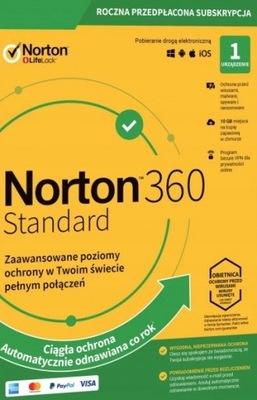 NORTON 360 STANDARD 1 PC 1 ROK +10 GB +Secure VPN