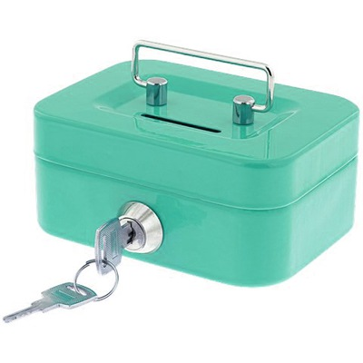 контейнер для денег Сейф копилка зеленый