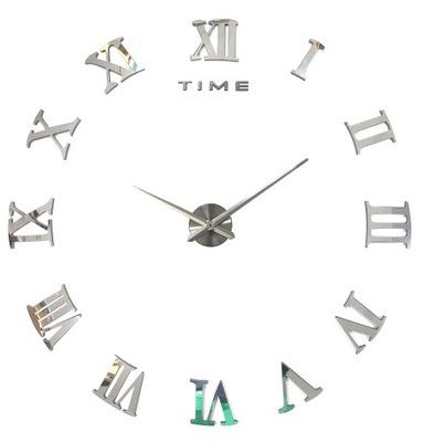 ЗЕРКАЛО часы БОЛЬШОЙ DIY 3D холсты НА СТЕНУ