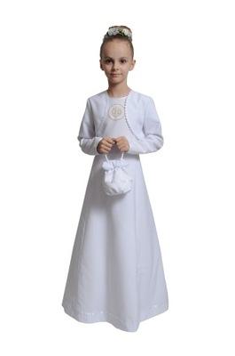 eac3d30268 Sukienka komunijna ALBA 152 rozm. 134 NOW - 7288809480 - oficjalne ...