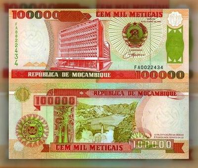 # МОЗАМБИК - 100000 METICAIS - 1993 - P139 - UNC
