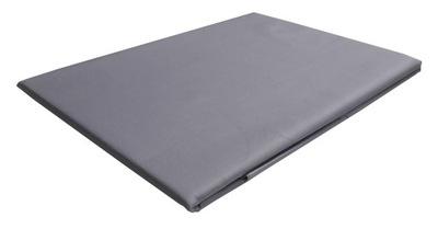 240x260 posteľ list bavlna satén sivá