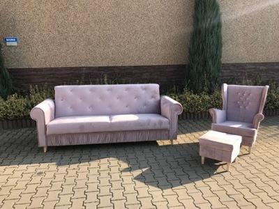 комплект Квартира диван + Кресло  + Подставка для ног